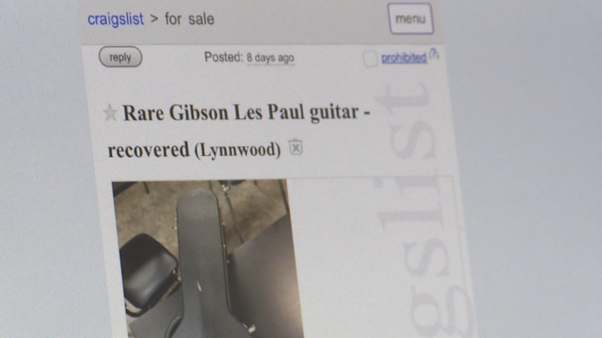 Police Use Craigslist To Find Owner Of Rare Guitar King5 Com