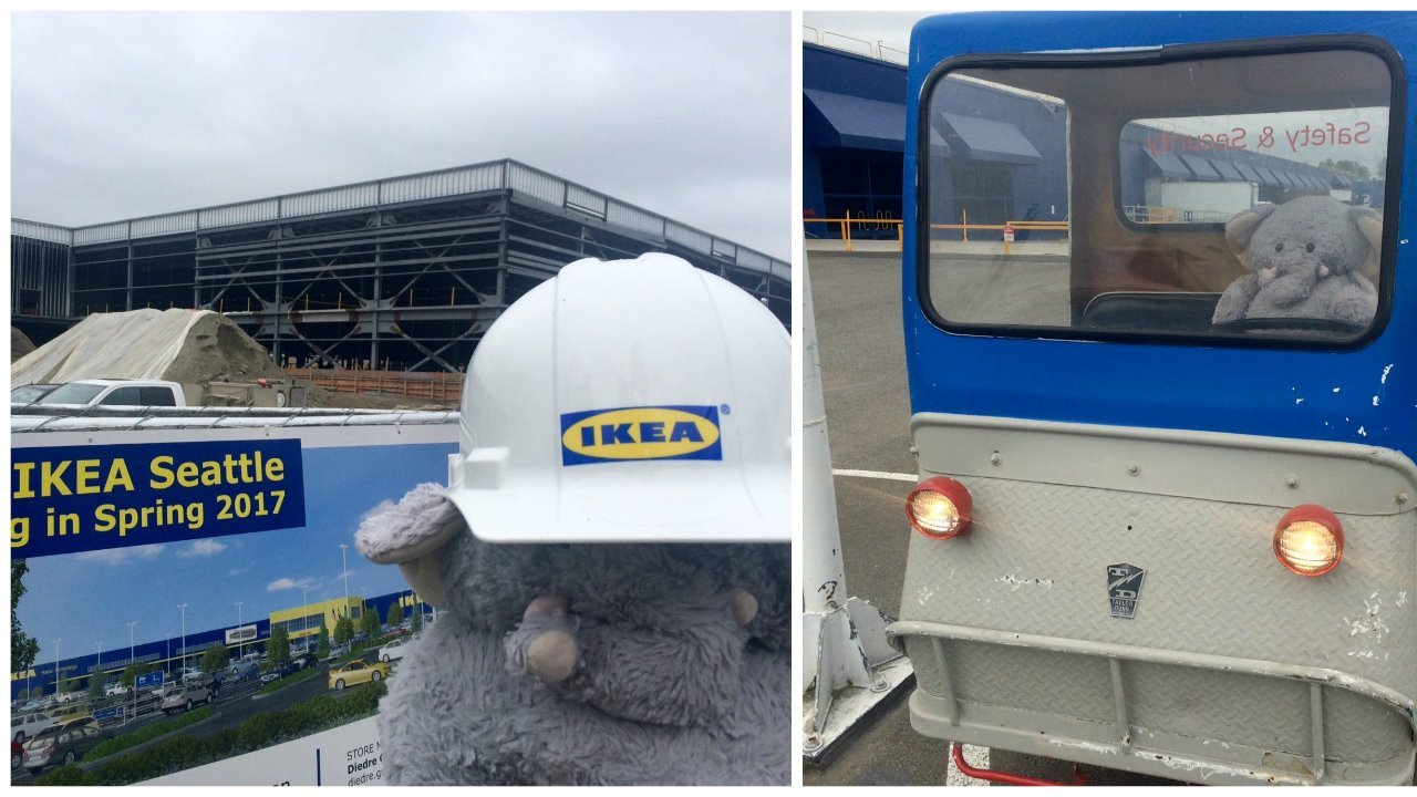 Ikea seattle trying to reunite lost stuffed elephant with for Ikea seattle ameublement renton wa