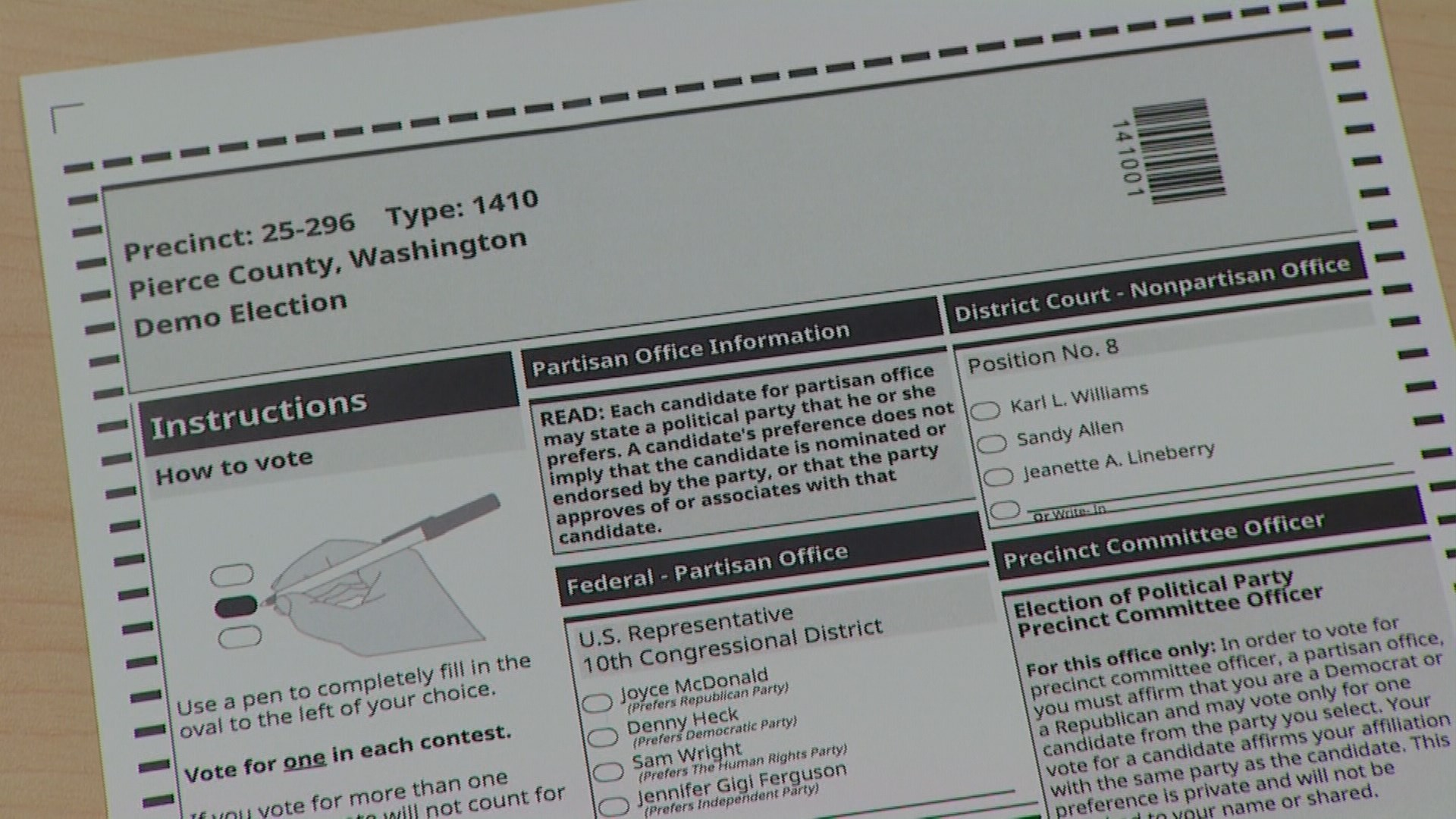 King5 Com Pierce County To Roll Out Redesigned Ballots