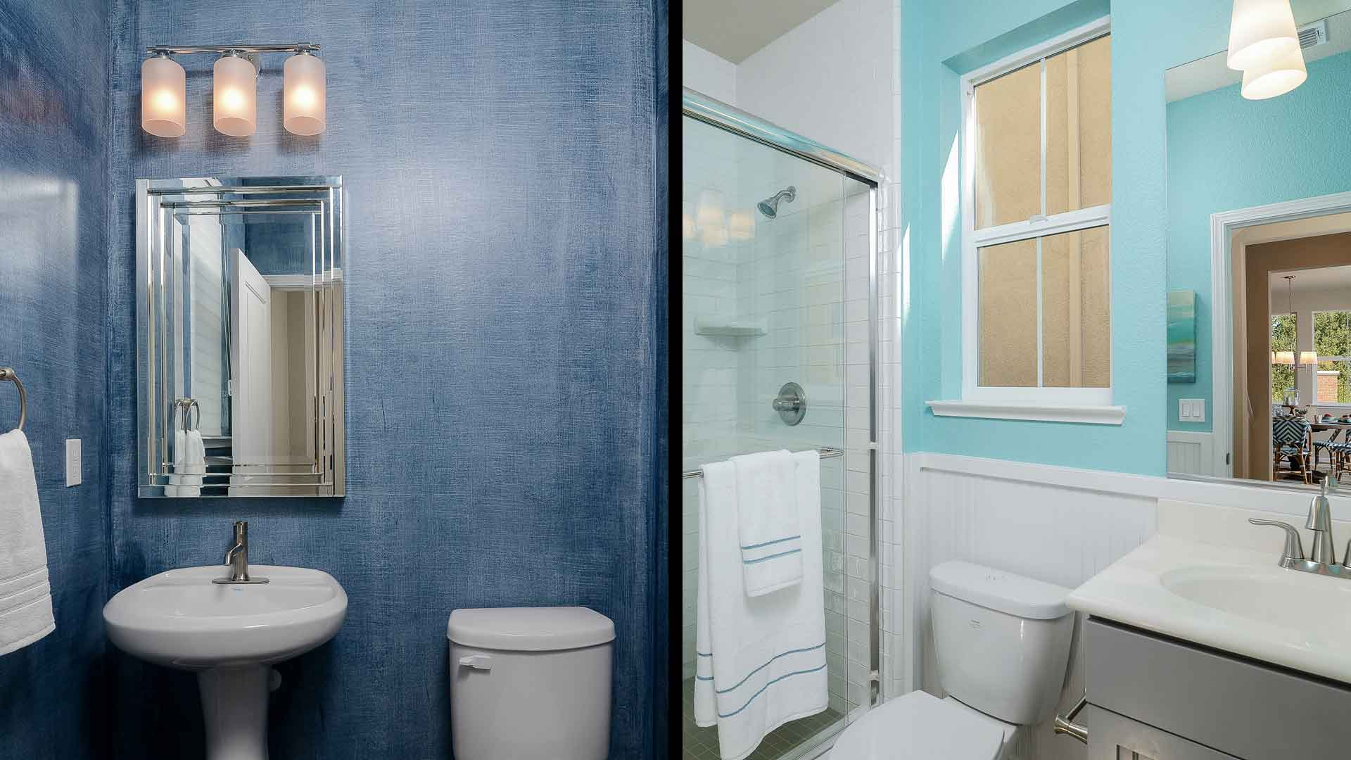 Blue Bathrooms homes with blue bathrooms sell for more, zillow study finds