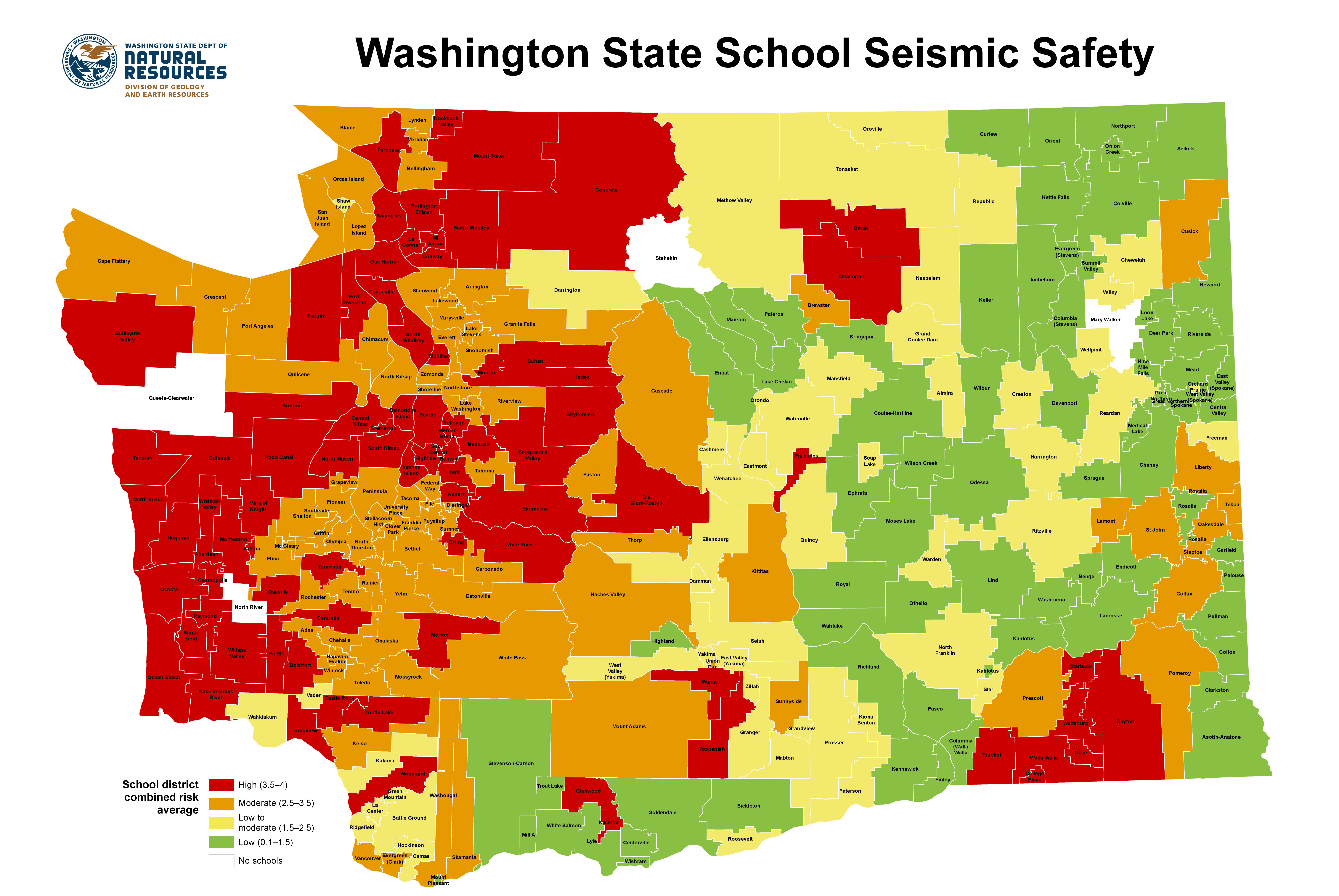 What's the earthquake risk in your child's district? | king5.com on