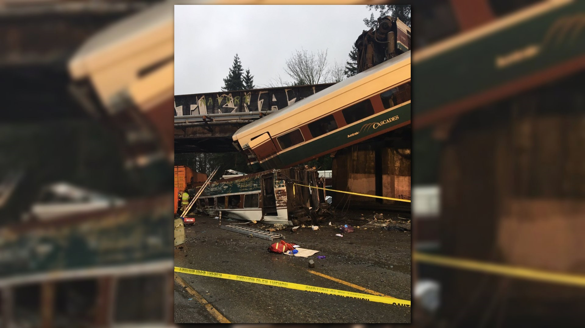 Amtrak Train Derails in Washington State, Closing Interstate 5