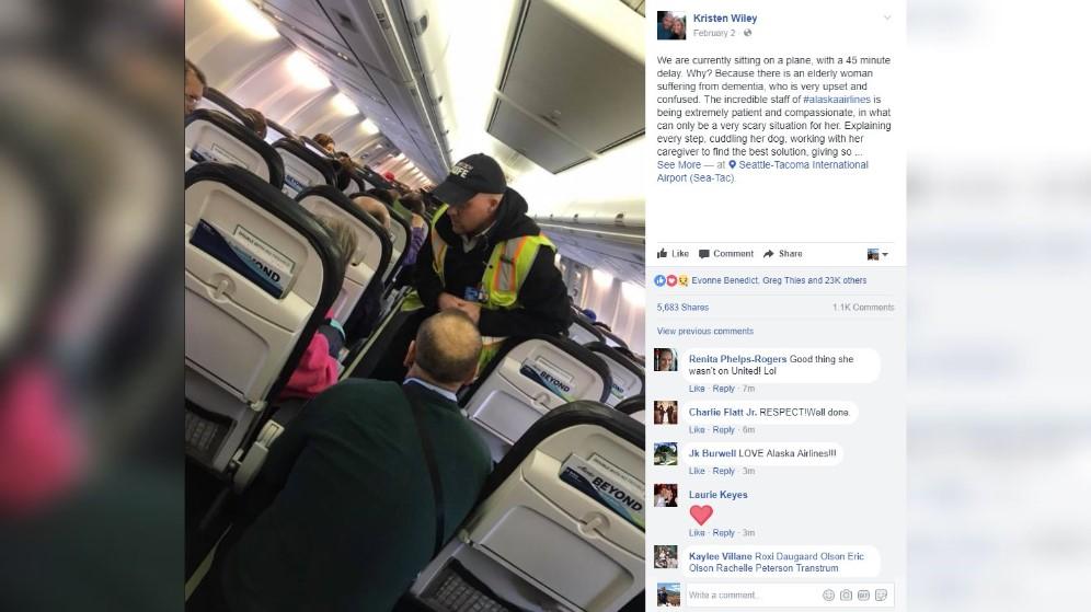 King5 Com Alaska Air Crew Seen Going Above And Beyond