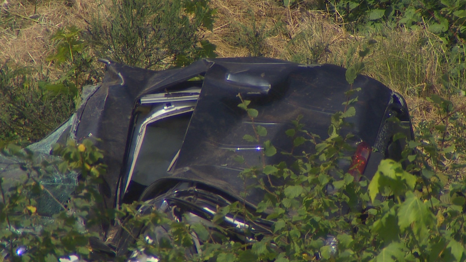 Man, child dead after car goes over embankment in Renton